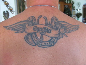 tattoo dedication to wife, marriage tattoo