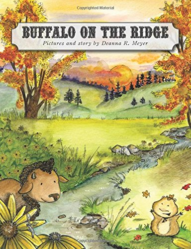 buffalo on the ridge, deanna meyer, childrens book, illustrator, south dakota, native american, bison, prairie dog, custer state park, children's gift idea, books for kids, gift for librarian, educational gift, educational book, preschool book, early childhood book