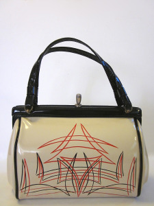 pinup, accessories, handbag, purse, clutch, patent leather, rockabilly, pinup girl, pin-striping, pinstriped, retro, psychobilly, etsy, retail, 50s, fashion, 60s, 40s, kustom kulture