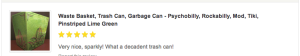 customer review pinstriped trash can