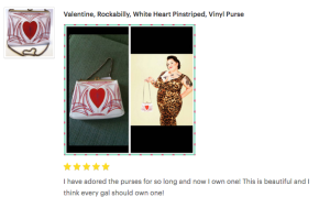 grease and grace, purse, vintage purse, rockabilly purse, retro, kustom kulture, pin striped, heart, pin up, pin up clothing