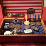 grease and grace, navy, memorial, war, servicemen, military, medals, keepsake box, trophy box